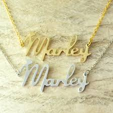 Custom Necklace Name Online Shop Custom Alloy Necklace Name Necklace New Font Style