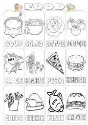 english teaching worksheets food pictionary