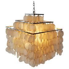 Capiz Shell Light Fixtures Capiz Shell Chandelier By Verner Panton For Sale At 1stdibs