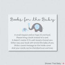 bring book instead of card to baby shower elephant baby shower bring a book instead of a card invitation