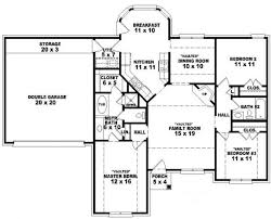 single story 4 bedroom house plans beautiful single story 3 bedroom house plans gallery