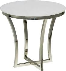 Stainless Steel Sofa Table Aurora Side Table In Stainless Steel Finish Round Marble Side Table