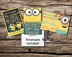 personalized minion birthday invitations 28 images minion