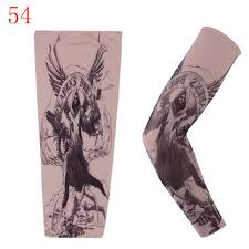 new men tattoo arm warmers fashion punk uv sun protection arm cuff