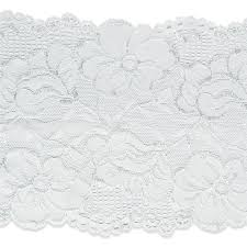 white lace 6 annnie stretch lace trim white discount designer fabric