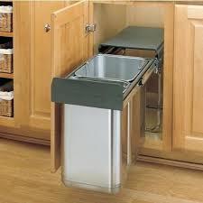 built in trash compactor under sink trash pull out built in trash cans cabinet slide out