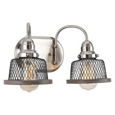 industrial style tilley brushed nickel bath light by progress