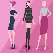 beautiful clothes beautiful models wearing clothes vector free