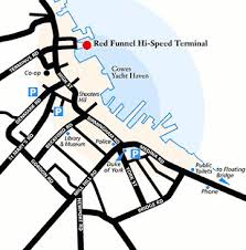 Southampton Port Car Parking Finding Red Funnel In West Cowes