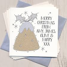 ten personalised glittery christmas cards by eggbert u0026 daisy