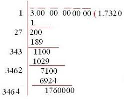 square root of numbers that are not perfect squares using long