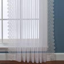 deville semi sheer lace window treatment