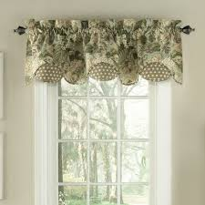 Waverly Curtains And Drapes Waverly Garden Glory Scalloped Floral Curtain Valance U0026 Reviews