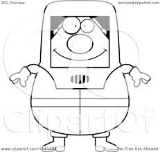 cartoon clipart of a black and white hazmat hazardous materials