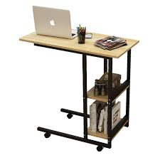 Computer Laptop Desk Wood Adjustable Computer Table Multifunction Portable Laptop Table