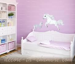 chambre cheval fille stickers cheval blanc pour chambre de fille vente de