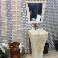 furniture glass double bathroom cabinets with mirrors side door