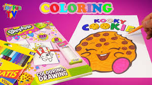 shopkins coloring pages videos shopkins coloring book colour in kookie cookie childrens drawing