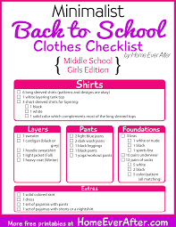 free printables minimalist back to clothes checklist for