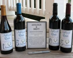 wine bottle guestbook wine guestbook kit etsy