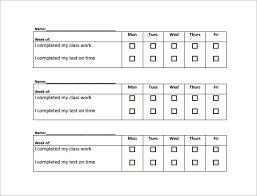 behavior chart template u2013 11 free word excel pdf format