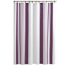 Vertical Striped Shower Curtain Purple And White Vertical Striped Bathroom Shower Curtain