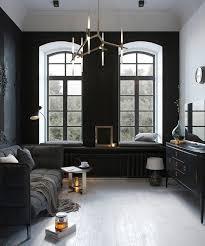 25 black living room