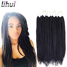medium box braids with human hair amazon com lihui 7pcs lot medium box braids crochet hair crochet