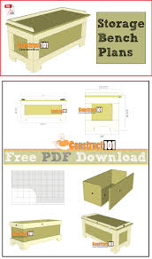 storage bench plans pdf download bench plans storage benches
