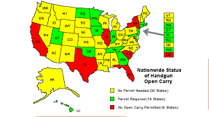 Ohio Concealed Carry Reciprocity Map by Gun Watch November 2014