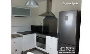 cuisine du frigo cuisine moderne fonctionnelle frigo hotte apres alchimie du décor
