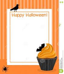 halloween cupcake vertical frame 3 stock vector image 77080360