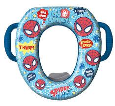 Cushioned Toilet Seats Amazon Com Marvel Ultimate Spiderman Potty Seat Padded Soft