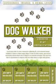 dog walking flyer template exol gbabogados co