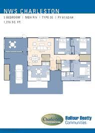 jb charleston men riv a u0026 b neighborhood floorplan 3 bedroom