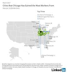 Urbana Ohio Map by Linkedin Workforce Report Chicago March 2017 Linkedin