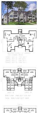 income property floor plans plan 18511wb 8 unit house plan with corner decks family house