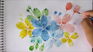 easy watercolor painting for beginners easy flower painting sd painting