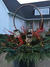 Large Planters For Trees by Winter Container Arrangements Dirt Simple