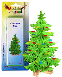 origami christmas tree 3d step by step christmas lights decoration