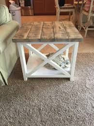 Rustic End Tables Custom Rustic Farmhouse End Table By Thewoodmarket On Etsy Https