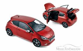 peugeot cars models 2013 peugeot 208 gti rubis red norev 184700 1 18 scale diecast
