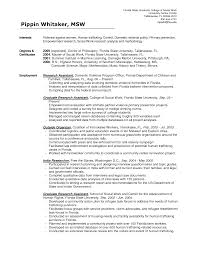 Sample Social Worker Resume No Experience by Social Work Resume Sample Resume For Your Job Application