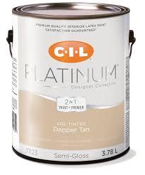 cil platinum interior paint pre tinted dapper tan 3 78 l