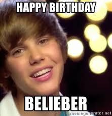 Justin Bieber Birthday Meme - happy birthday belieber justin bieber meme generator