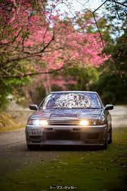 2016 subaru wrx sti widebody silver 16 jdm tuners 1 24 diecast r32 sedan with the amazing japanese cherry blossoms 1365x2048