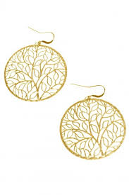 nickel earrings tone vine circle earrings nickel lead free gold tone earrings
