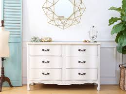 Shabby Chic Credenza by Vintage Shabby Chic Dresser Credenza With 6 Drawers No142