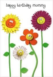 mummy birthday card sunflowers