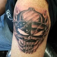 firefighter punisher skull tattooic